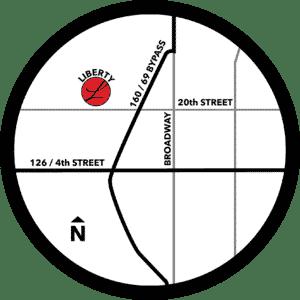 Liberty Baptist Church Map