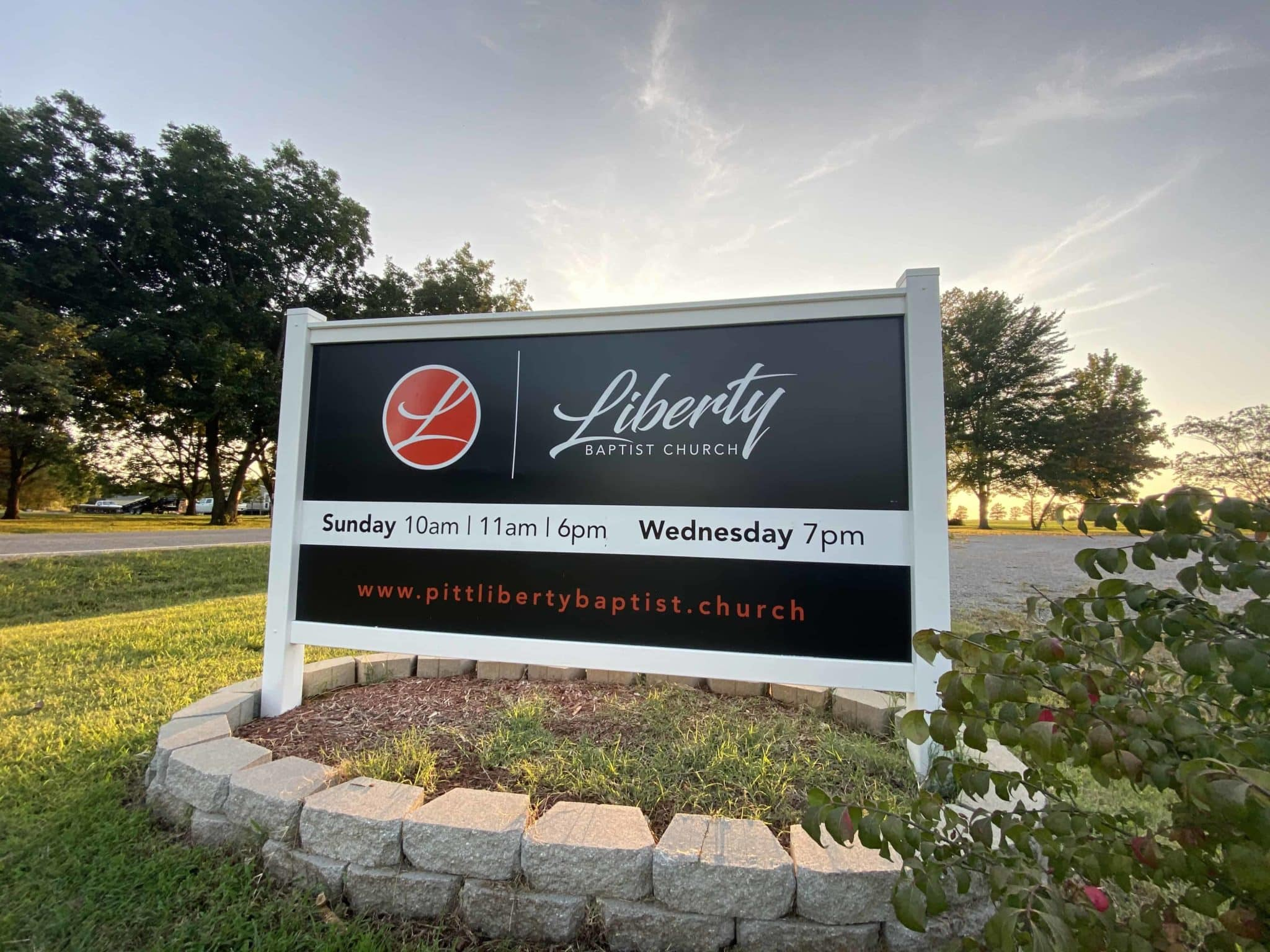 Liberty Baptist Church Sign